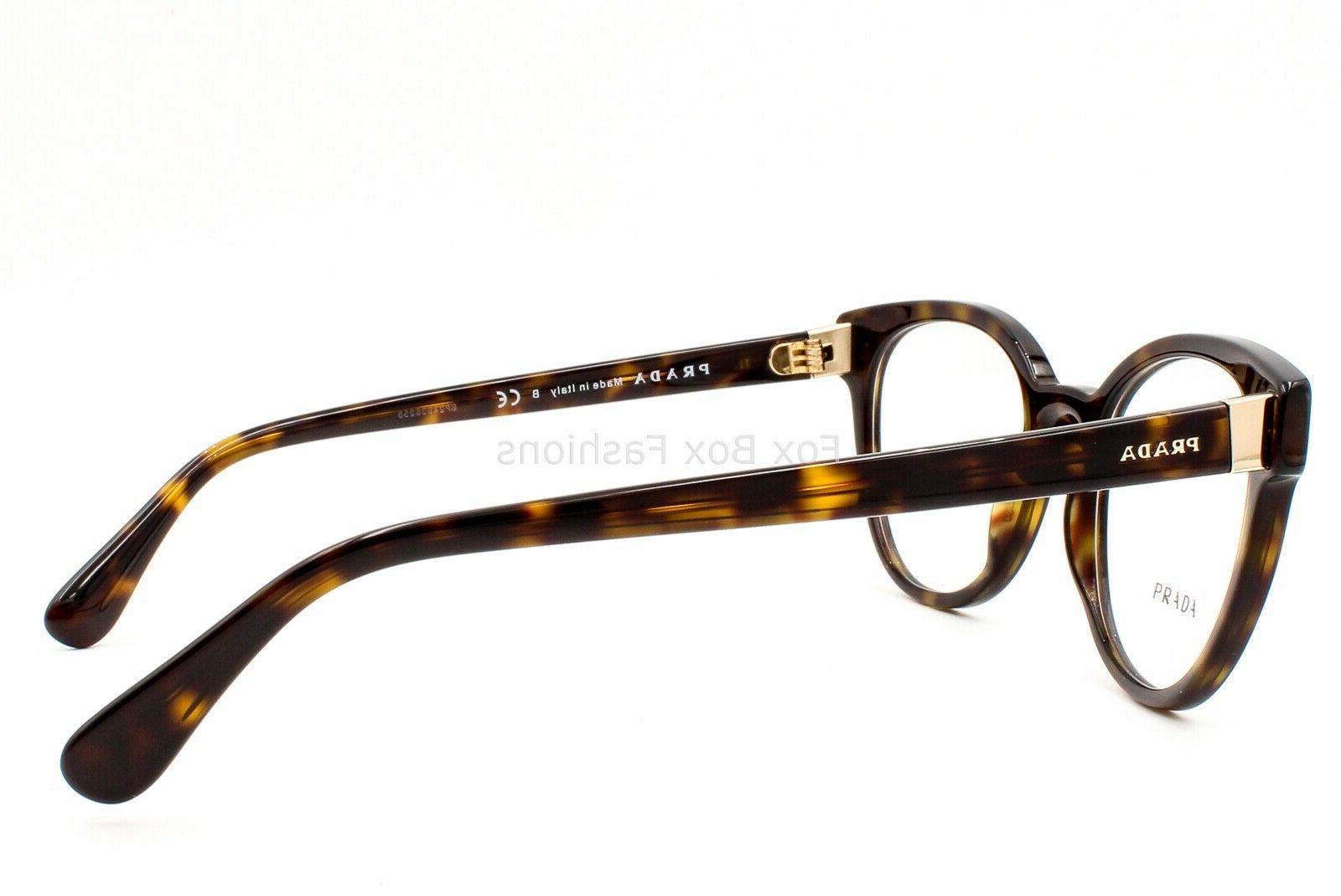 Prada 2AU-1O1 Eyeglasses Glasses Brown Tortoise 50-20-135