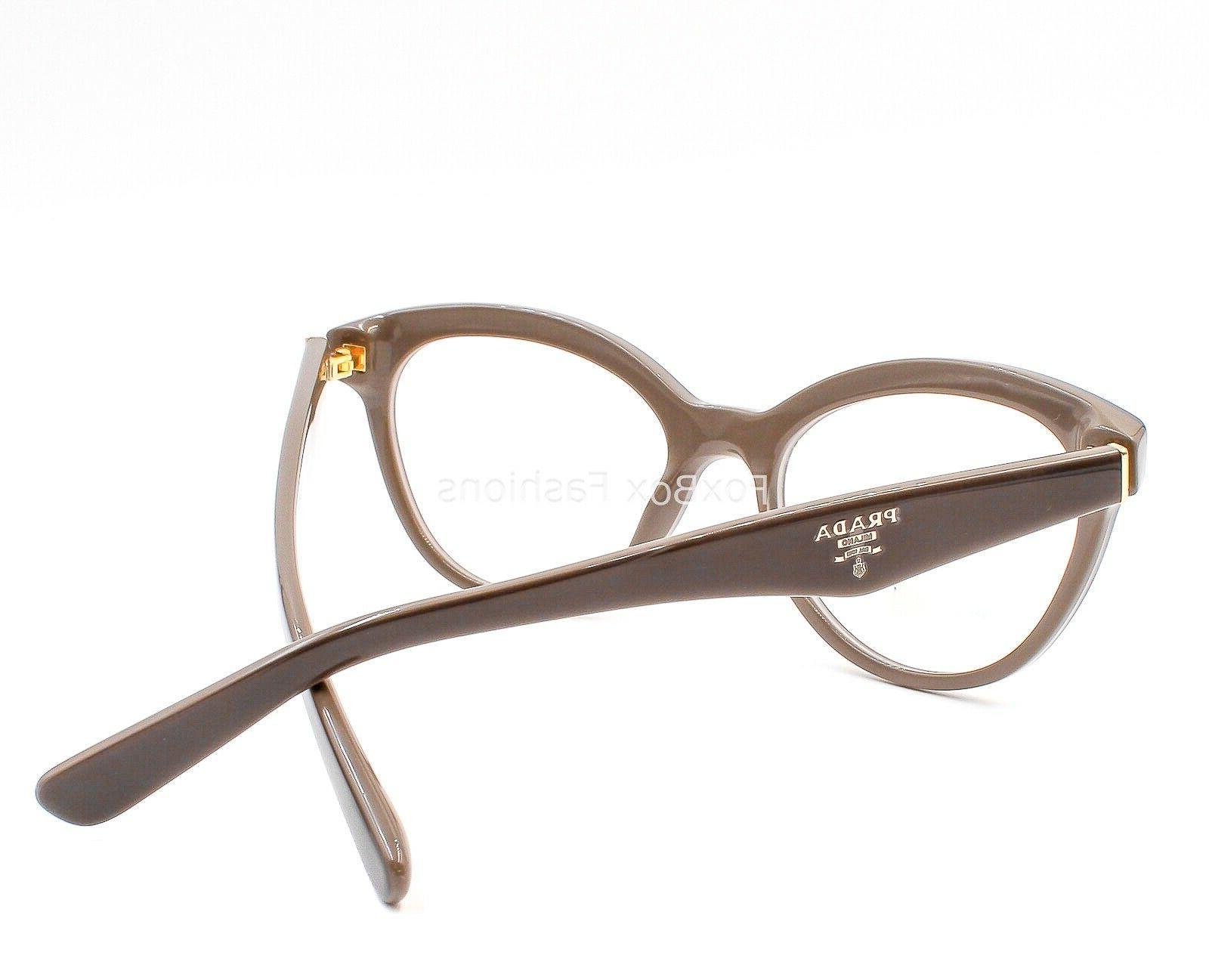 PRADA VPR Eyeglasses Frames Brown on