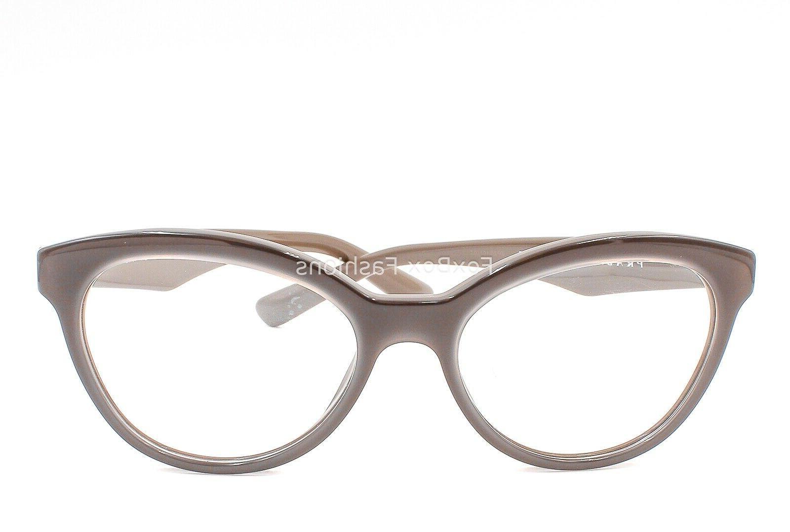 PRADA VPR UAM-1O1 Eyeglasses Brown on Brown 50-17-140
