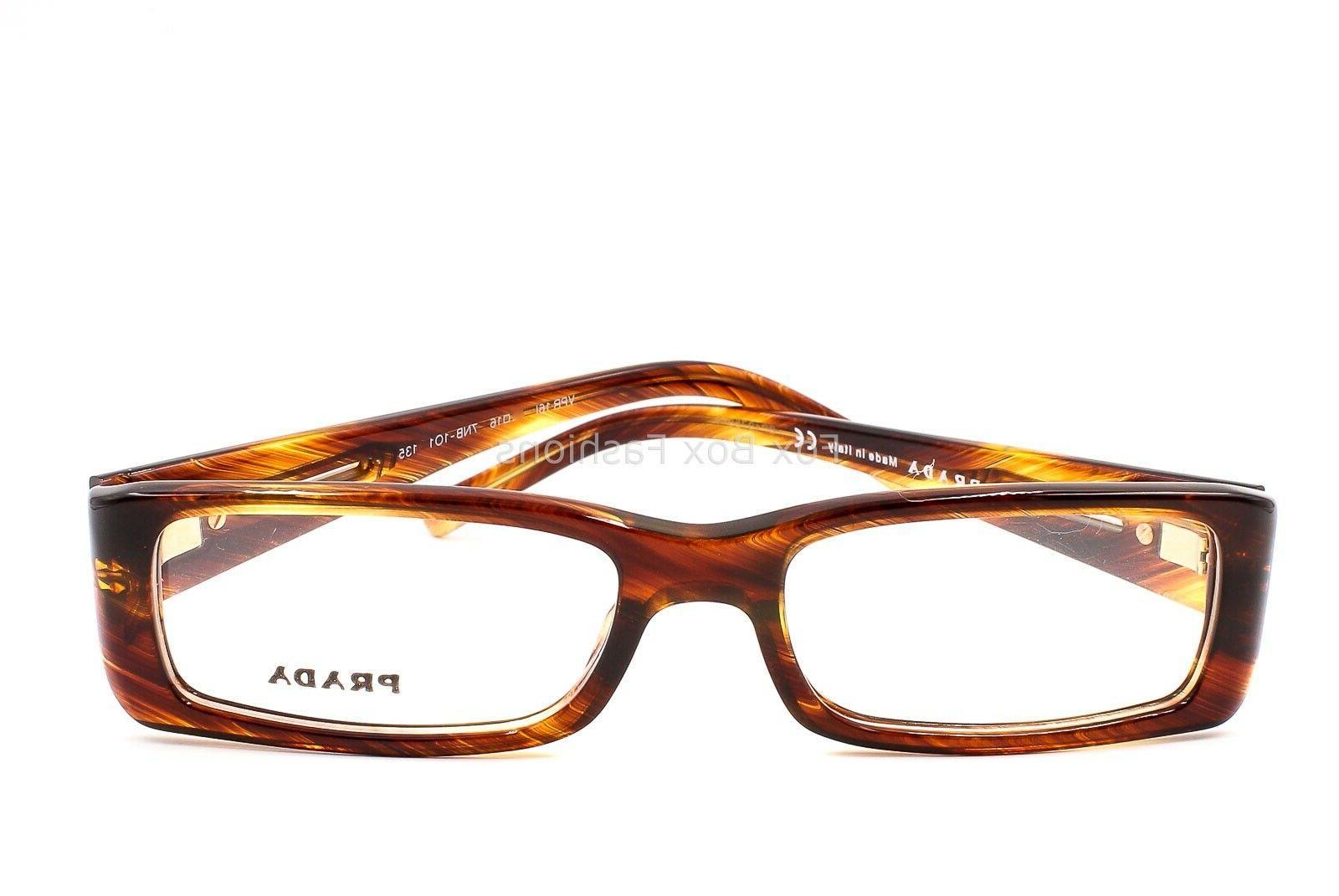 PRADA Eyeglasses Glasses Brown