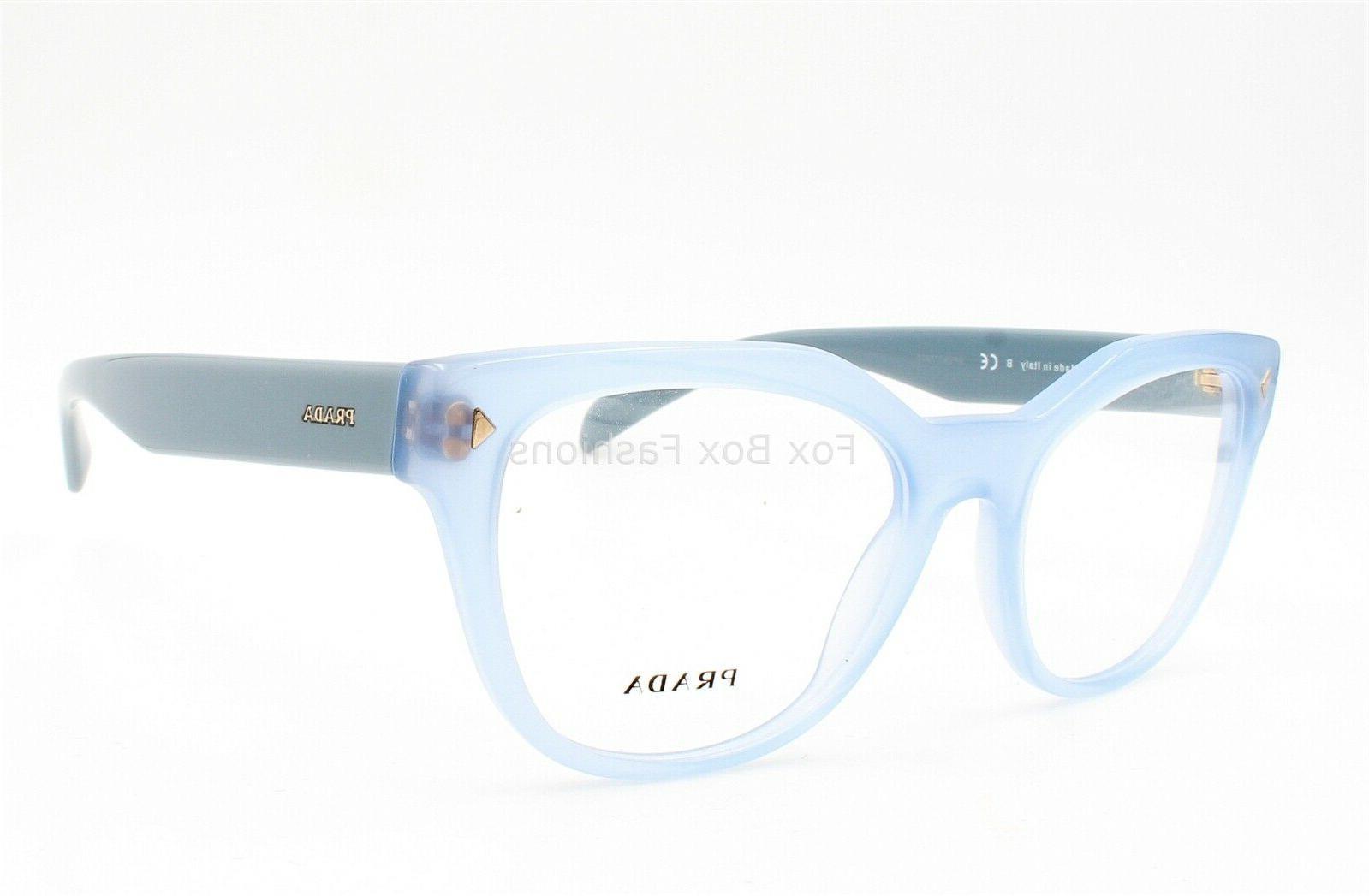 PRADA 21S Eyeglasses Frames Glasses Opal Azure 53mm