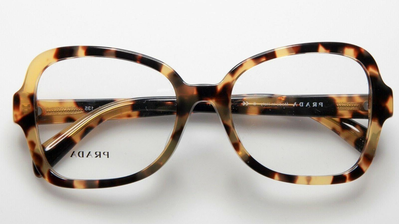 PRADA 25S 7S0-1O1 Glasses Yellow Spotted Havana 53mm Fit