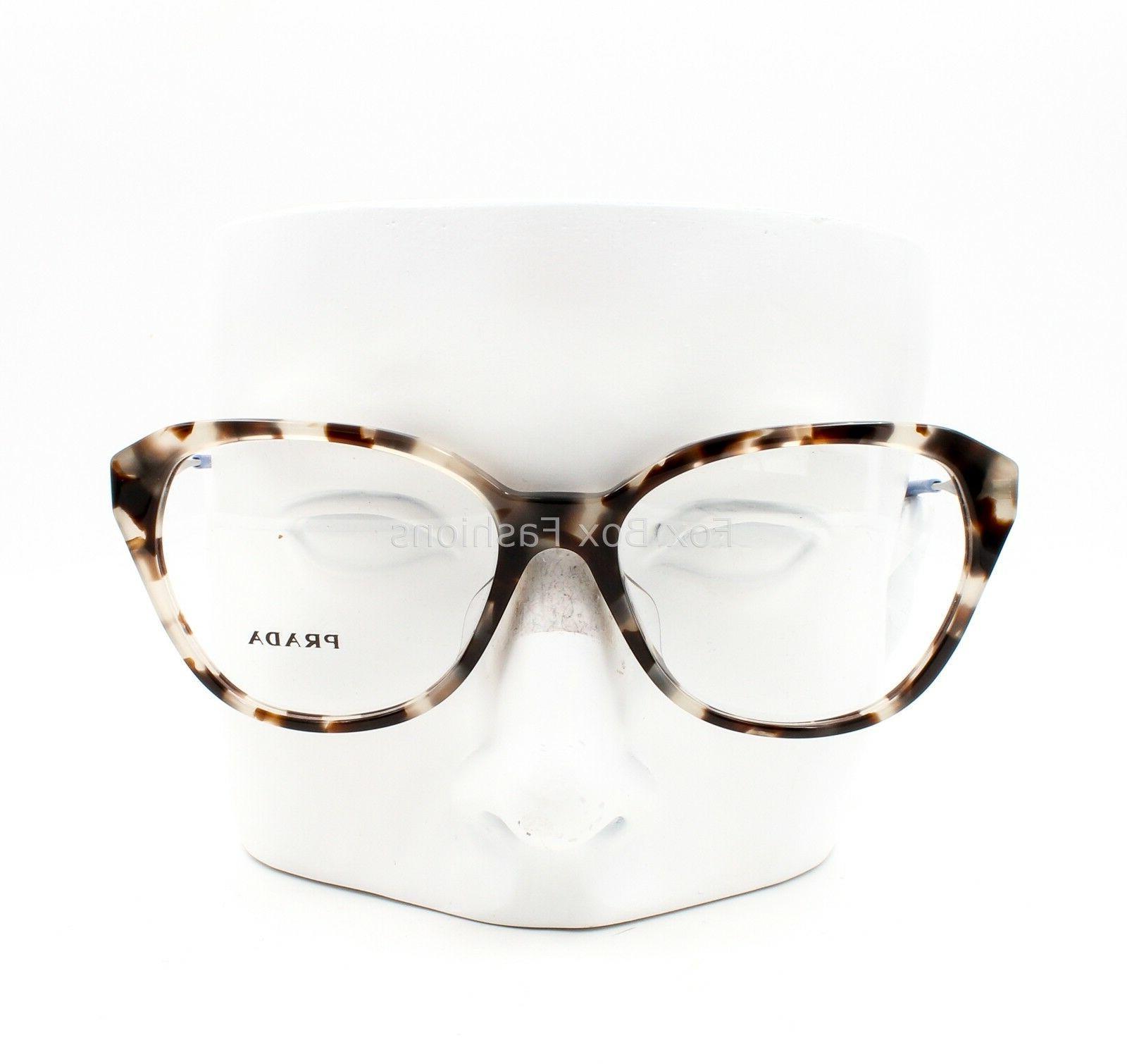 Prada VPR 28S-F Eyeglasses Glasses Opal Havana Fit