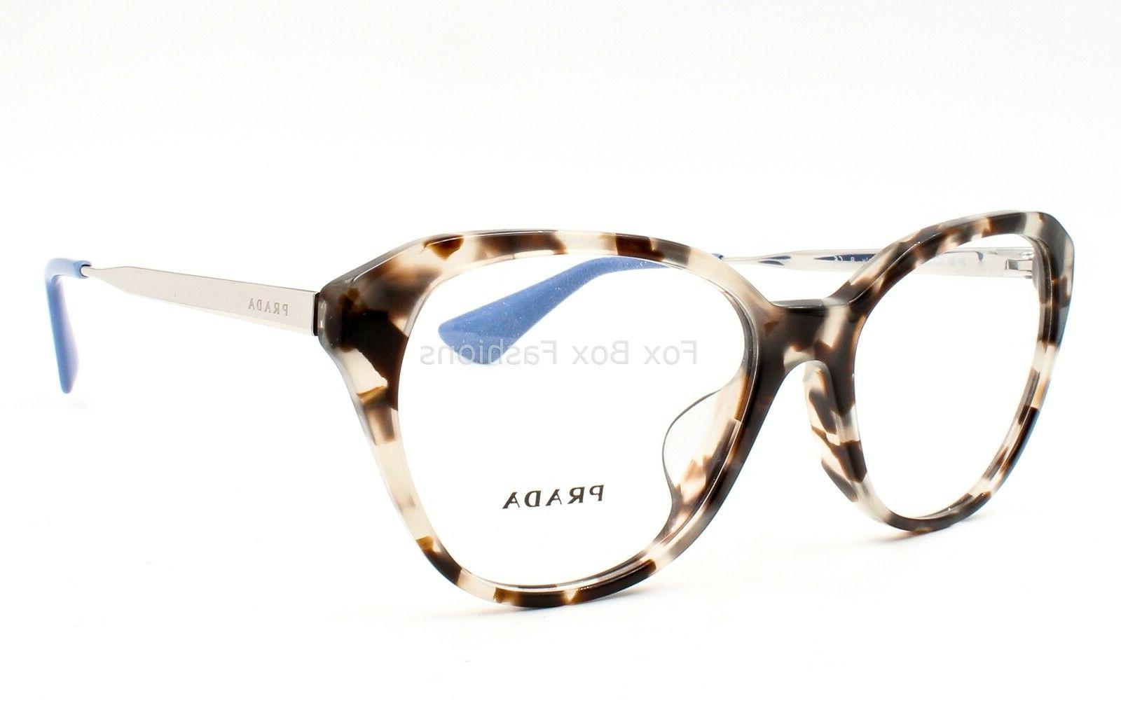 Prada VPR 28S-F UAO-1O1 Eyeglasses Opal Havana Fit