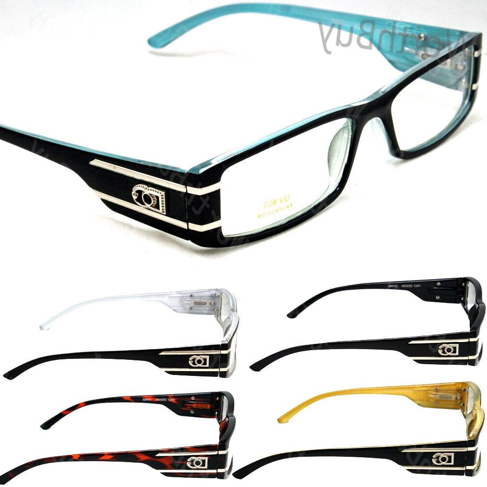 wb mens womens clear lens rectangular eye