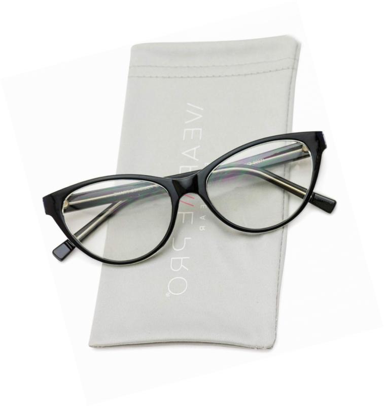 wearme pro clear lens cat eye glasses
