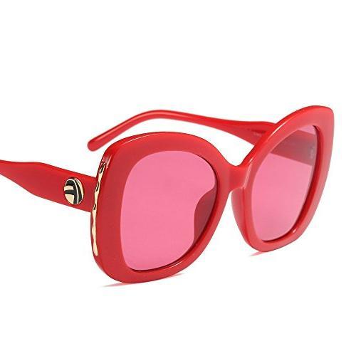 women cateye sunglasses oversized vintage retro bold