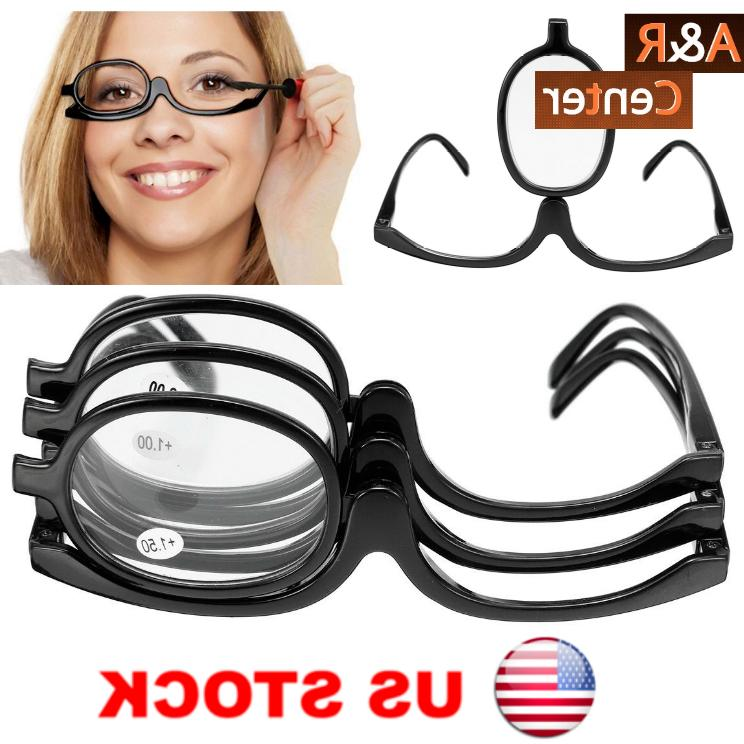 women cosmetic glasses eye makeup magnifying reading