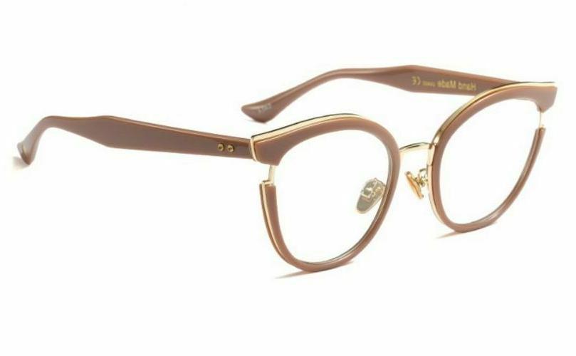 Women Fashion Cat Eye Glasses Optical Metal Frame Computer E