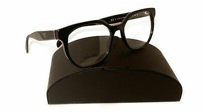 women s black square glasses with case