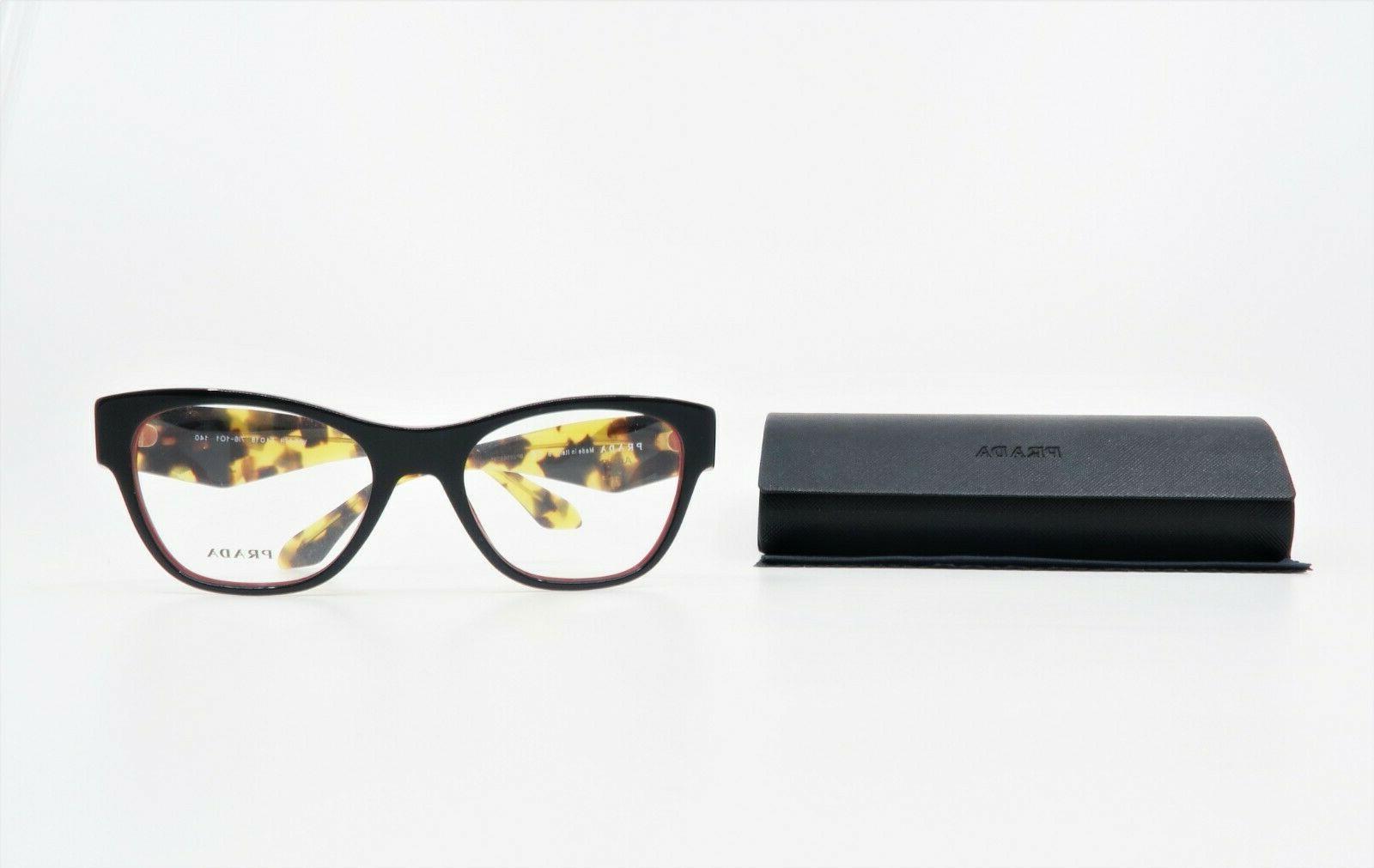 Prada Rectangular Black/Crystals Glasses case 07R
