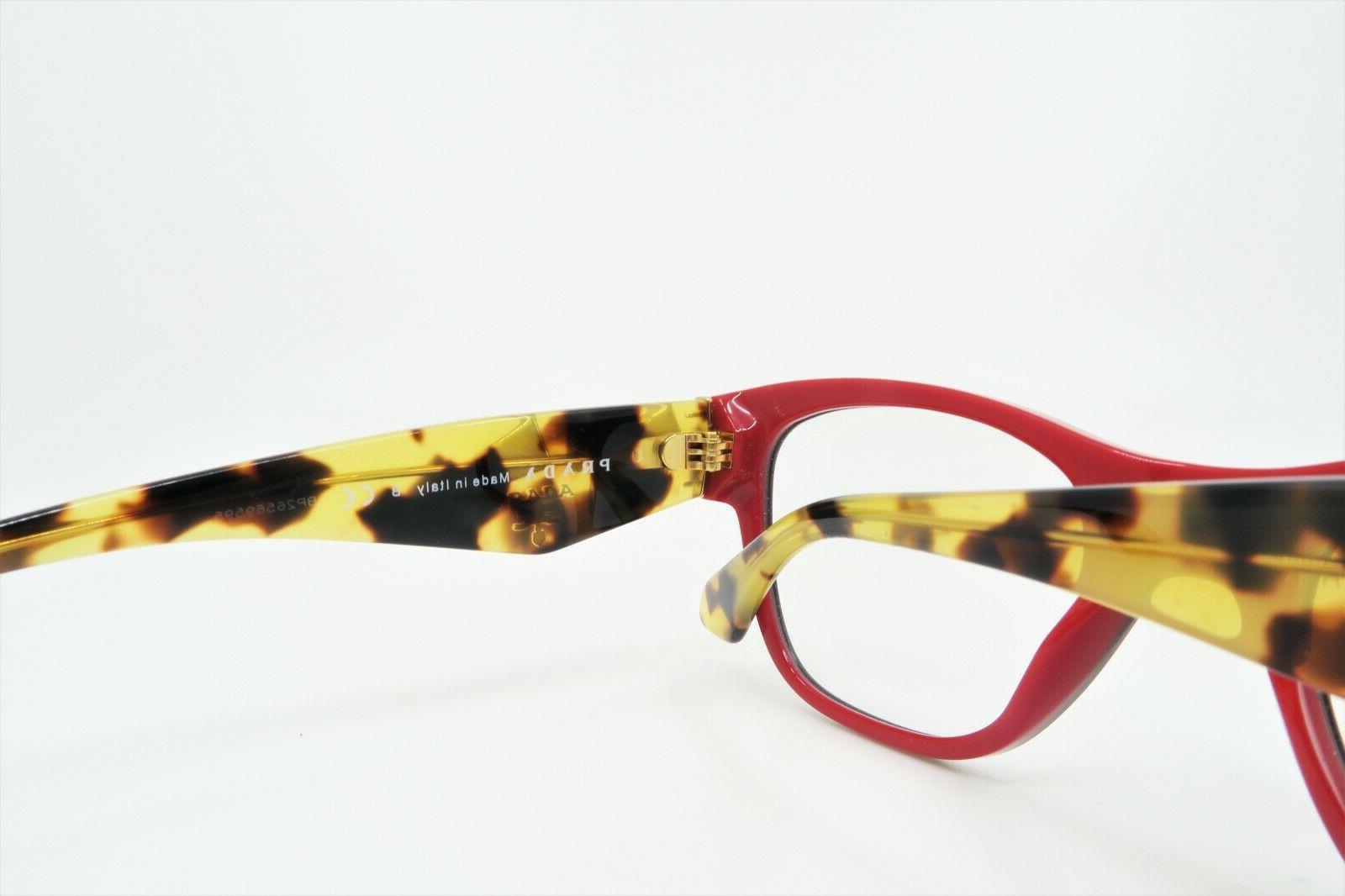 Prada Women's Rectangular Glasses with case VPR 07R 7I6-1O1 51mm