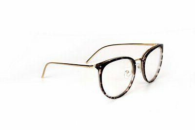 Amomoma Fashion Lens Round Frame Glasses AM5001 Leopard Frame..