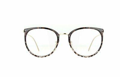 womens fashion clear lens round frame eye