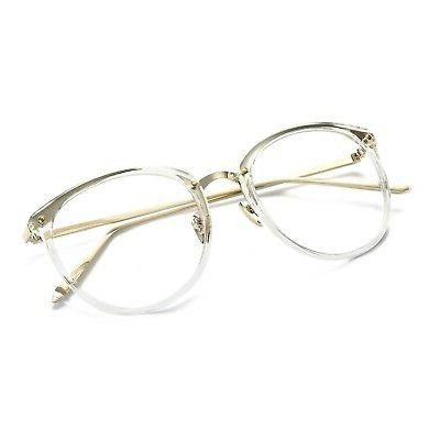 Amomoma Women's Fashion Round Eyeglasses Frame Lens AM5001