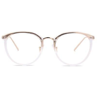 womens fashion round eyeglasses optical frame clear