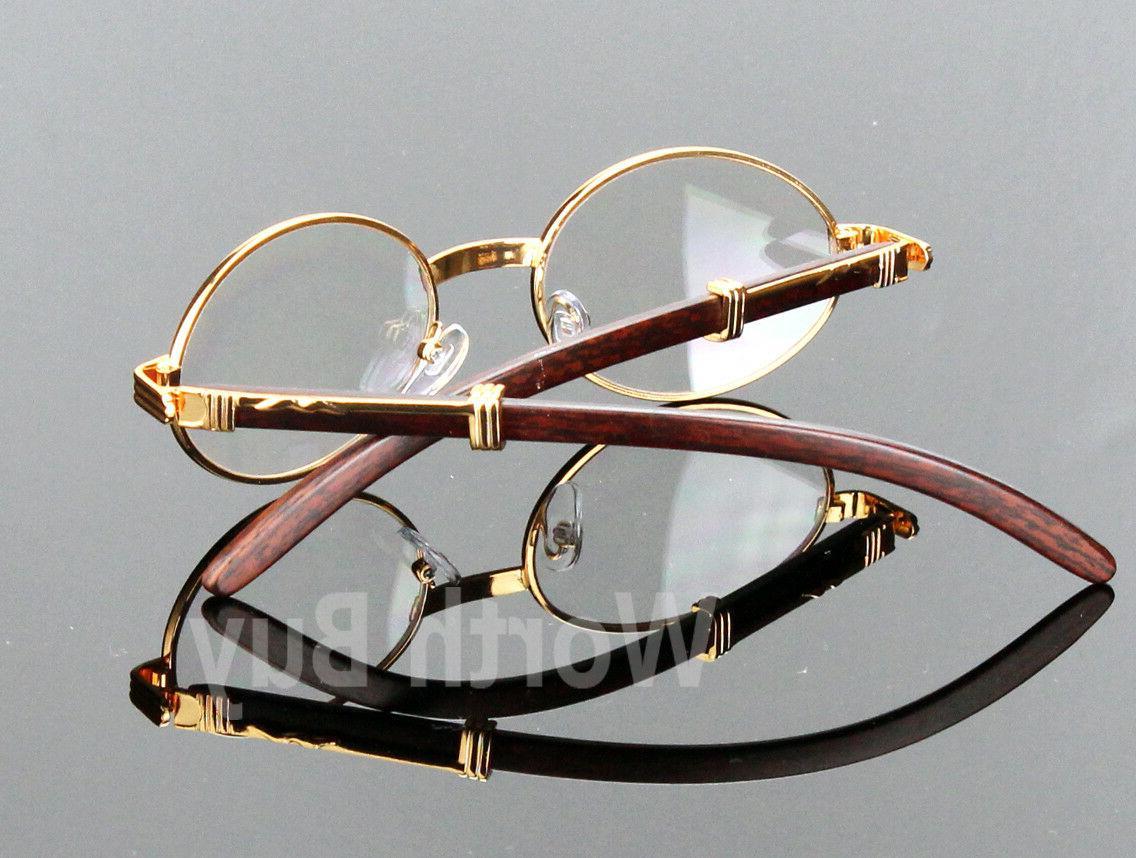 Womens Clear Wood Glasses