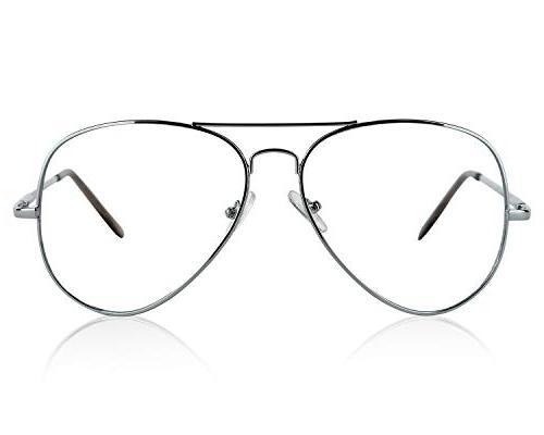 Womens Mens Glasses Man Sunglasses 80's Silver