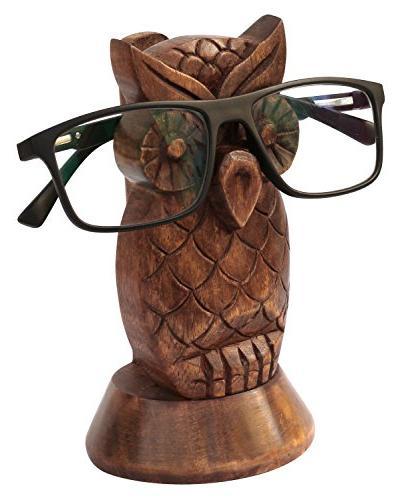 wooden eyeglass spectacle holder handmade