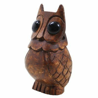 Wooden Owl Holder Stand Office Desk Home Decor