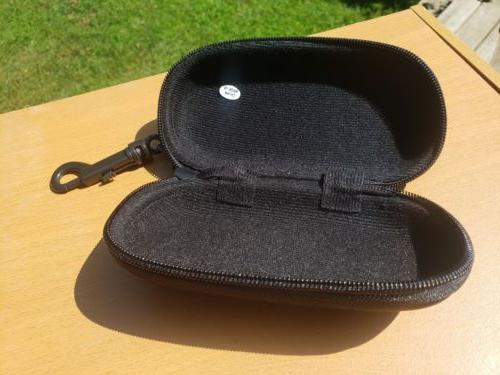 Zip Hard Sunglass/Eye Case with black New FREE SHIP