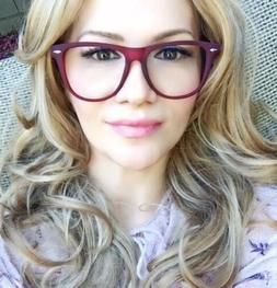 Large LARISA Thin Big Matte Gel Frame Clear Lens Women Gel G