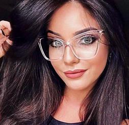 Large Square Cat Eye Gold Fearless Fashion Big Frames Clear