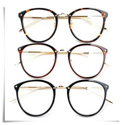 Linda Big Farrow Owl Eye Round Nose Pad Reading Glasses Free
