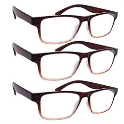 VVDQELLA High Magnification Reading Glasses 4.o Power 3 Pack