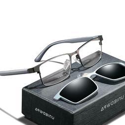 Men Glasses Frame Magnet Clip On Polarized Sunglasses Optica