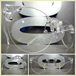 Men or Women VINTAGE RETRO Style Clear Lens EYE GLASSES Tran