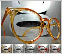 Men's CLASSIC VINTAGE RETRO Style Clear Lens EYE GLASSES FAS