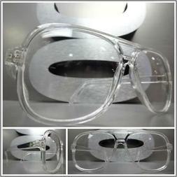 Men's CLASSIC VINTAGE RETRO Style Clear Lens EYE GLASSES FAS
