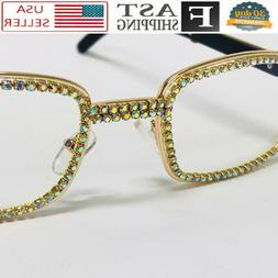 Men's EYE GLASSES Classy Elegant Exotic Luxury Clear Lens Sq