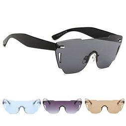 Men's Retro Punk Pilot RimlessSport Sunglasses Outdoor Eyewe