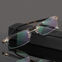 Men's Rimless Eyeglass Frames Metal Spectacle Frame Glasses