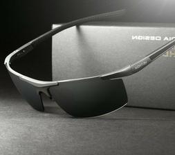 Men's Sunglasses Polarized Coating Mirror Sun Glasses Male E