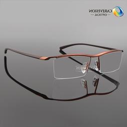 Men's Titanium Half Rimless TR90 Myopia Eyeglasses Frames Op