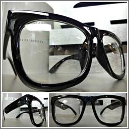 Men's Women CLASSIC VINTAGE RETRO Style Clear Lens EYE GLASS