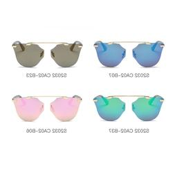 Men's Women's Cat Eye Aviator Round Sunglasses Mirrored Lens