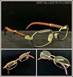 Men Sophisticated CLASSY ELEGANT Clear Lens EYE GLASSES Gold