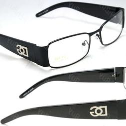 Men Women Black Clear Lens Frame Eye Glasses Rectangular Fas