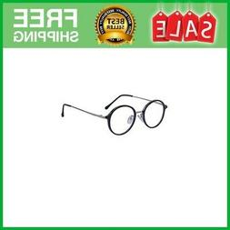 Men Women Round Glasses Clear Lens Metal Frame Retro Circle