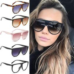 Men Women Vintage Mirror Designer Flat Lens Sunglasses Retro