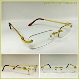 Mens Classy Sophisticated Luxury Style Clear Lens EYE GLASSE