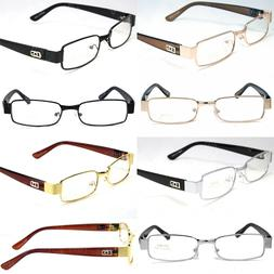Mens Women Clear Lens Rectangular Eye Glasses Fashion Frame