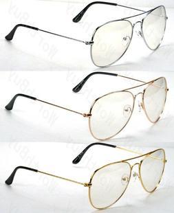 Mens Womens Clear Lens Metal Frame Eye Glasses Fashion Eyewe