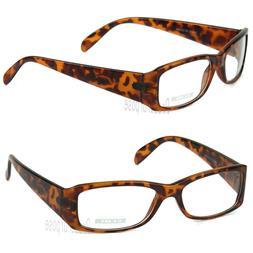 Mens Womens Clear Lens Rectangular Frame Fashion Eye Glasses