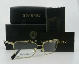 Versace MOD.1262 1002 Gold Metal New Women 100% Authentic Rx