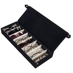 Moldiy Sunglasses Storage Boxes, Black Suede Fabric Sunglass